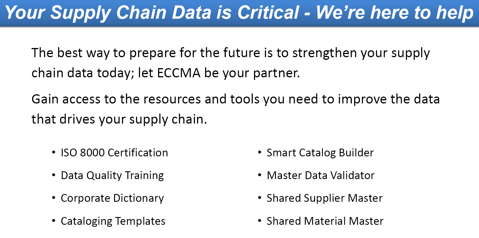 ECCMA Membership Overview 2021