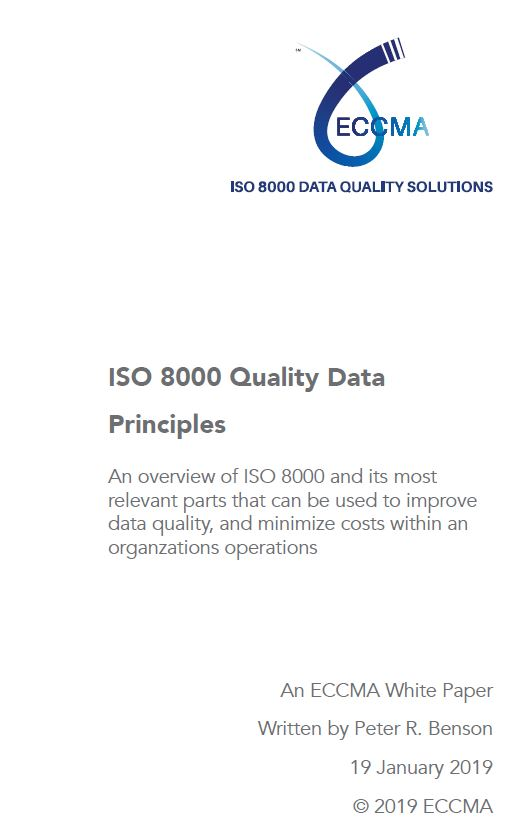 ISO 8000 Quality Data Principles