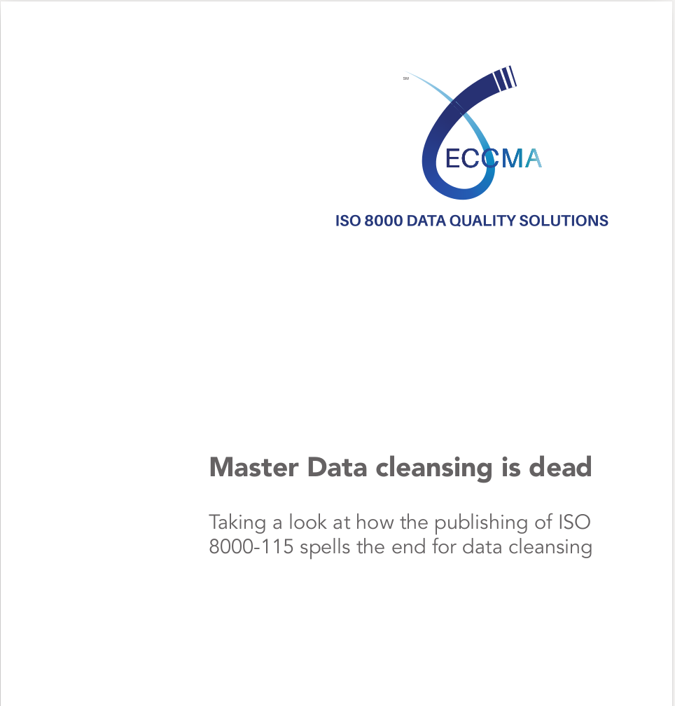 Master Data cleansing is dead